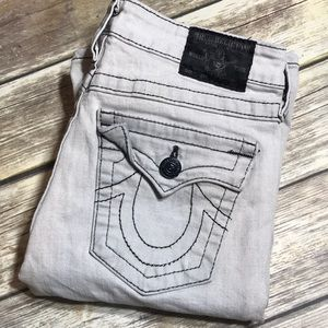 True Religion Jeans Joey Twisted Flare Gray 28